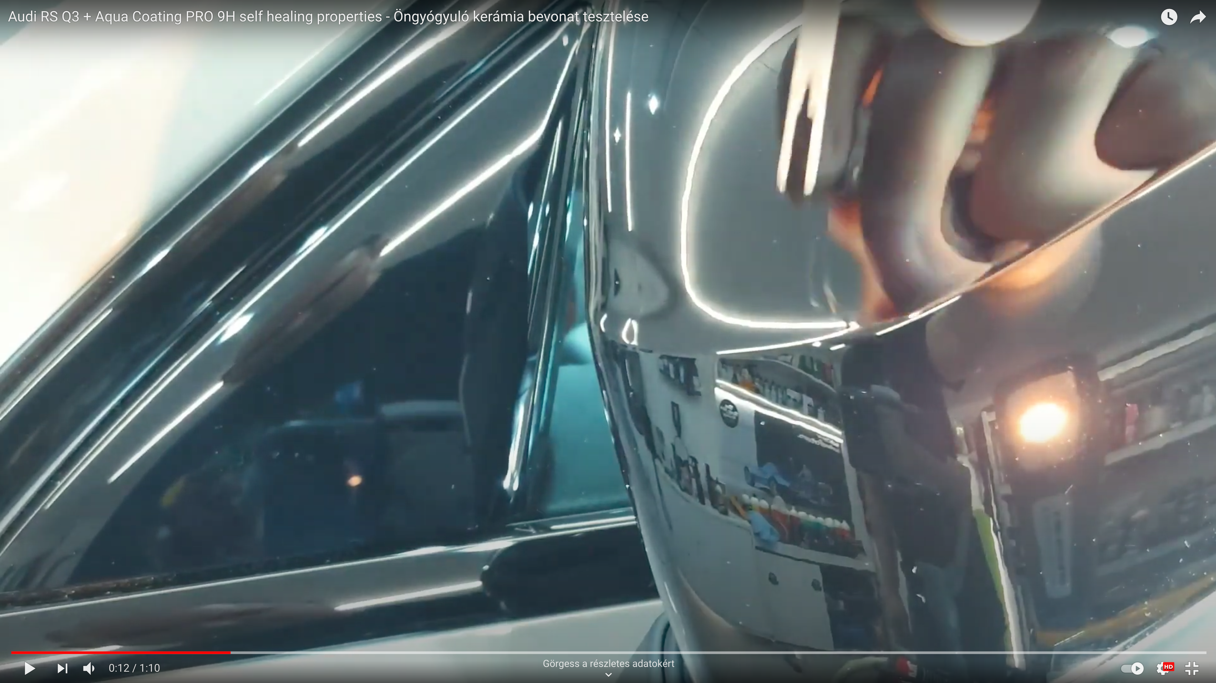 Audi RS Q3 + Aqua Coating PRO 9H self healing properties - Öngyógyuló kerámia bevonat tesztelése